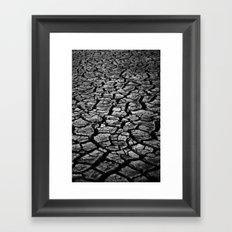 Cracked Monochrome Framed Art Print