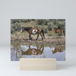 Matching Pair - South Steens Mustangs Mini Art Print