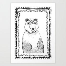 Boris the Bear  Art Print