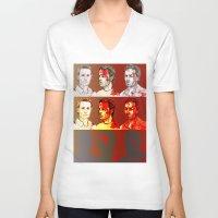 rick grimes V-neck T-shirts featuring Rick Grimes by Zalazny