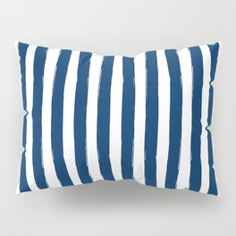 Navy and White Cabana Stripes Palm Beach Preppy Pillow Sham