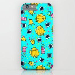 Happy Cute Kitty Cat Pattern iPhone Case