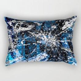 Broken blue by Brian Vegas Rectangular Pillow