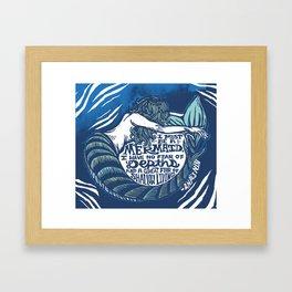 Anais Nin Mermaid Depths Framed Art Print