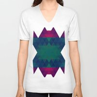 geo V-neck T-shirts featuring Geo by Catherine Stuckrath