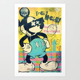 Tricky Mickey (Painted Version) Art Print