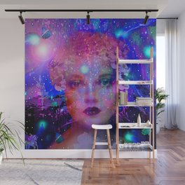 WOMAN IN THE STARS Wall Mural