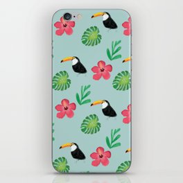 Toucan Floral iPhone Skin