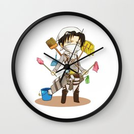 Attack On Titan Levi Chibi Wall Clock