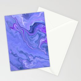 Violet Sky -  Fluid Marble Abstract Art Stationery Cards