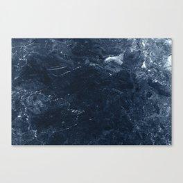 Navy Marble Canvas Print