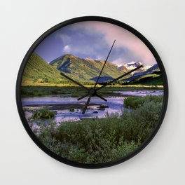 Crested Butte Sunrise Wall Clock