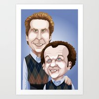 will ferrell Art Prints featuring Step Brothers by Leo Maia