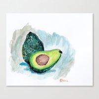 avocado Canvas Prints featuring Avocado by Elena Sandovici