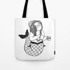 Barista Mermaid Tote Bag