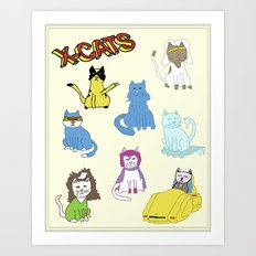 X-CATS Art Print