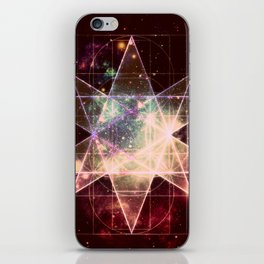 Galaxy Sacred Geometry : Stellated Icoshadron Warmth iPhone Skin