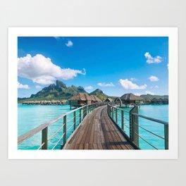 Bora Bora Landscape Travel Photography Print Art Print