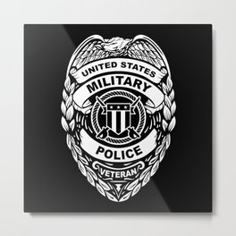 U.S. Military Police Veteran Security Force Badge Metal Print