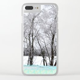 Winter Sleep Clear iPhone Case