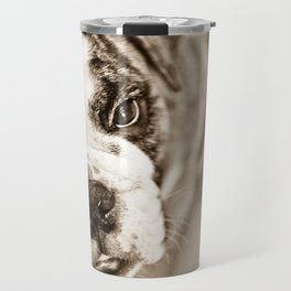 American Bulldog - Sepia Travel Mug