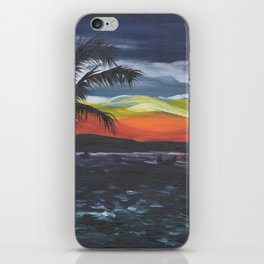 Island Life, Palm Trees, Sunsets and Fishermen iPhone Skin