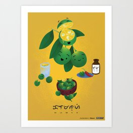 Calamansi Art Print