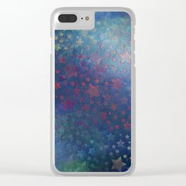 """Night of stars and dreams"" Clear iPhone Case"