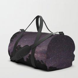 Busy Sky - Shooting Stars, Planes and Satellites in Colorado Night Sky Duffle Bag