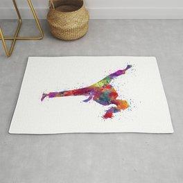 Karete Girl Colorful Watercolor Art Rug