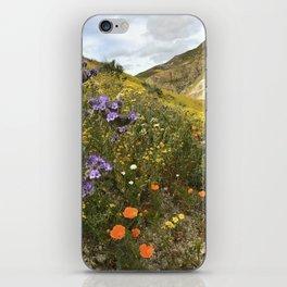 Wildflowers in California iPhone Skin