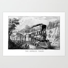 The Express Train: Currier & Ives 1870 Art Print
