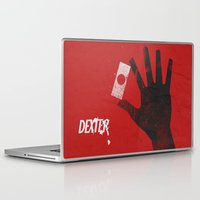 movie poster Laptop & iPad Skins featuring Dexter - Alternative Movie Poster by Stefanoreves