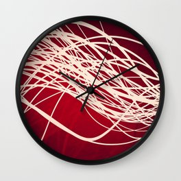 Linear Flow-Red Complex Wall Clock