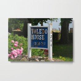 Toledo House Sign Metal Print