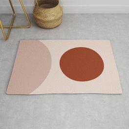 Clay terra cota abstract art Rug
