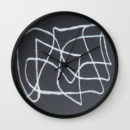 One Line Abstract I Wall Clock