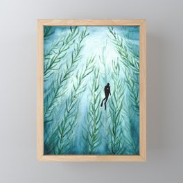 Deep dive Framed Mini Art Print