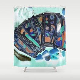 Tarot Card Mystical Gypsy Fortune Teller Fantasy Shower Curtain