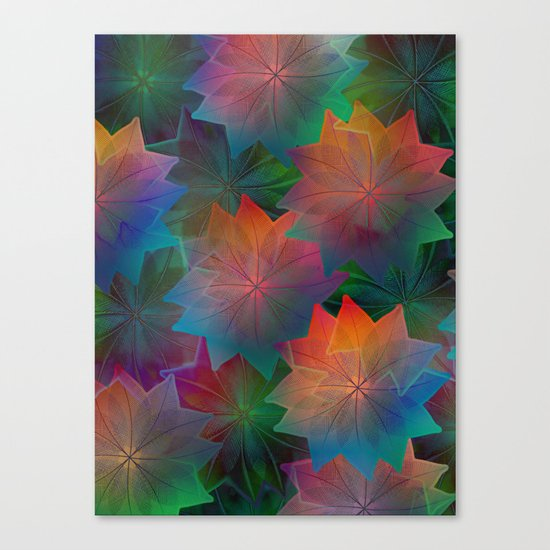 Skeleton Leaf Abstract 2 Canvas Print