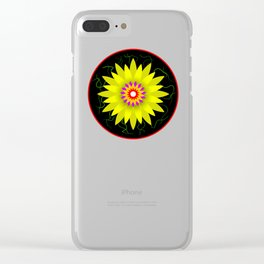 Flower Design Clear iPhone Case