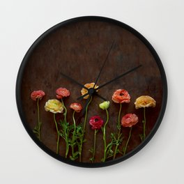 Ranunculus-ly Happy Wall Clock