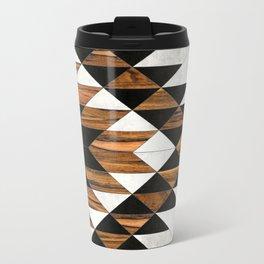Urban Tribal Pattern 9 - Aztec - Concrete and Wood Metal Travel Mug