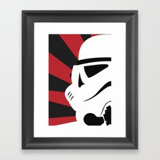 Storm Trooper Portrait Framed Art Print