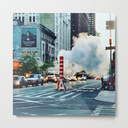 New York: Steam Stack Metal Print