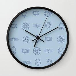 Fallout- Vault Dweller pattern Wall Clock