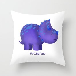 Tricerotops Throw Pillow