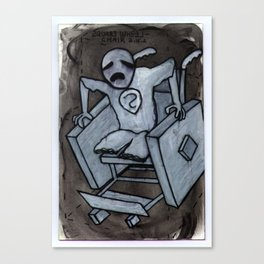 Square Wheel Chair Canvas Print