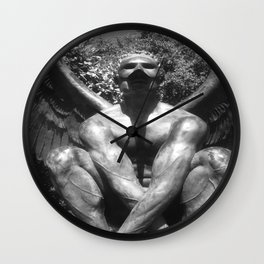 """The """"Wings of the City"""" sculpture exhibit by Mexican Artist Jorge Marín. Wall Clock"""