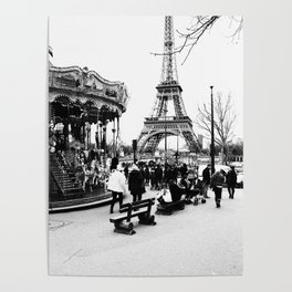 Merry-Go-Round the Eiffel Tower Poster